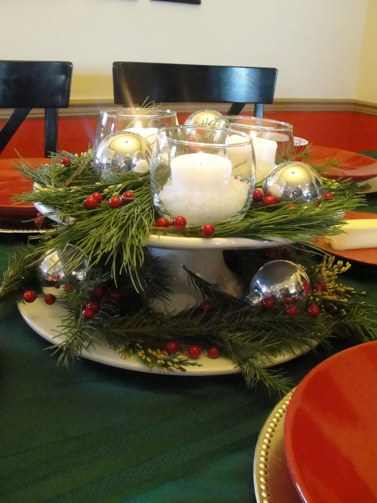 Small and simple things a christmas table centerpiece