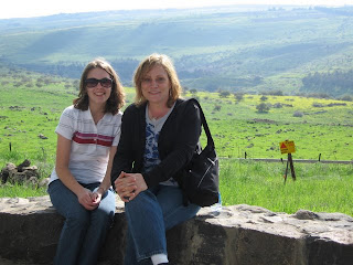Erin Yates and Elke Speliopoulos in the Golan Heights