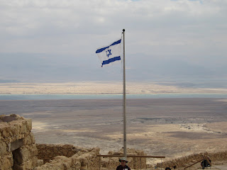 From the top of Masada looking towards the Dead Sea