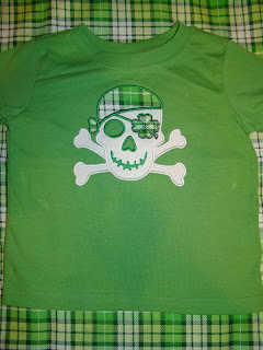 Clover patch pirate applique