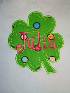 four leaf clover applique @ SAME monogram