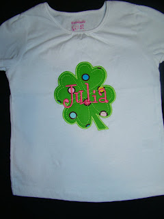 Girls St. Patricks day applique