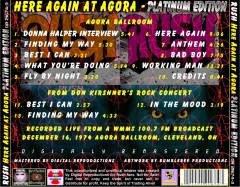 Rush 1974 Agora Ballroom Cleveleand + Don Kischner botleg art back