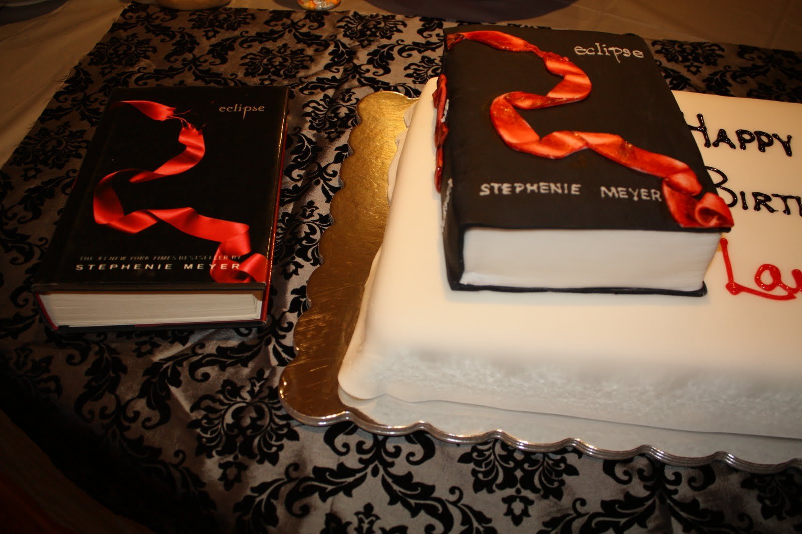 I Placed The Actual Eclipse Book Next To The Cake I Created The Cake  Version Of The Book, The Same Size As The Real Book