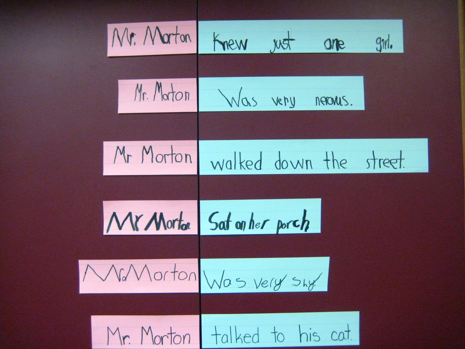 An Apple For The Teacher: Teaching Subjects and Predicates With Mr ...