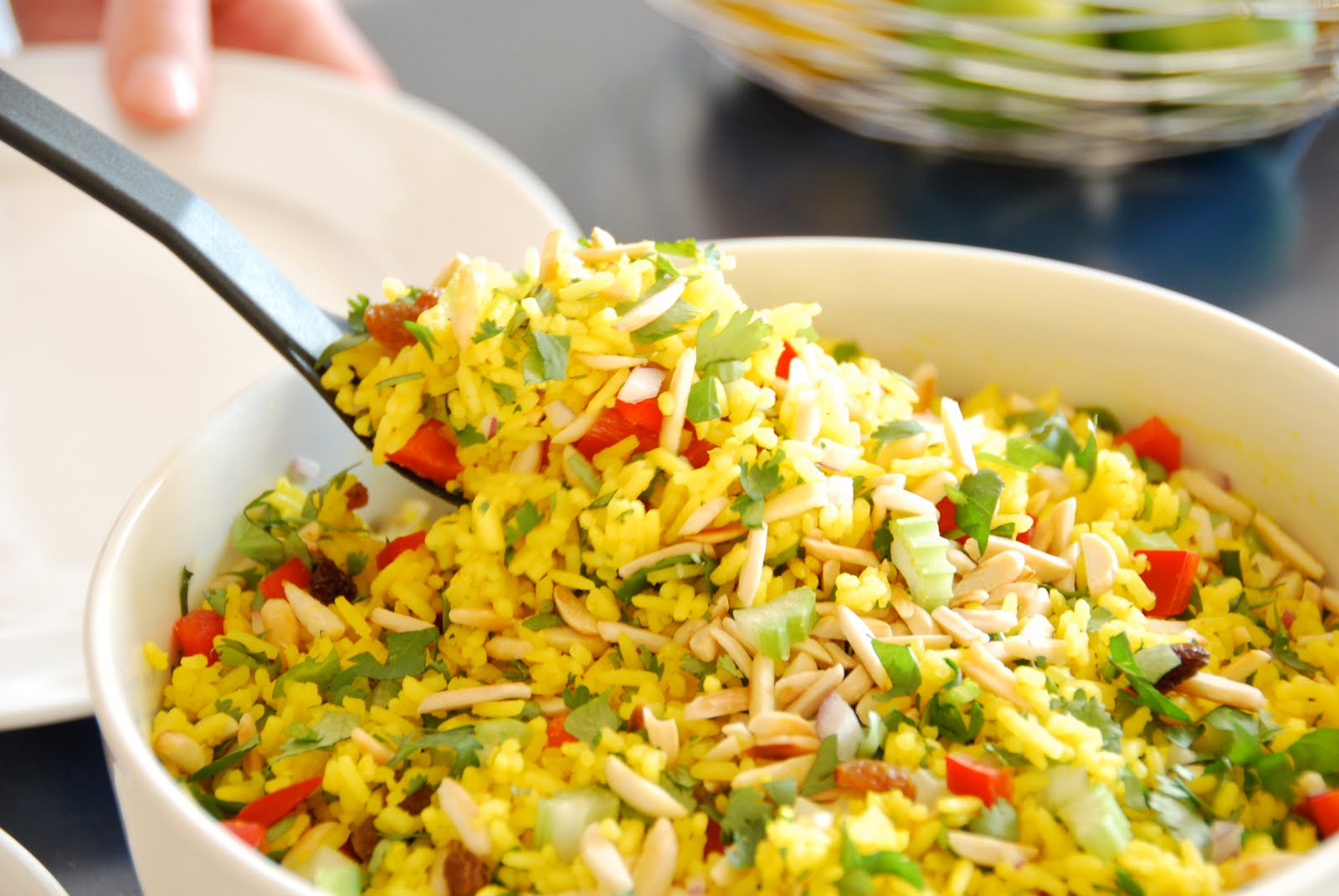 Curried Rice Salad with Spiced Yoghurt
