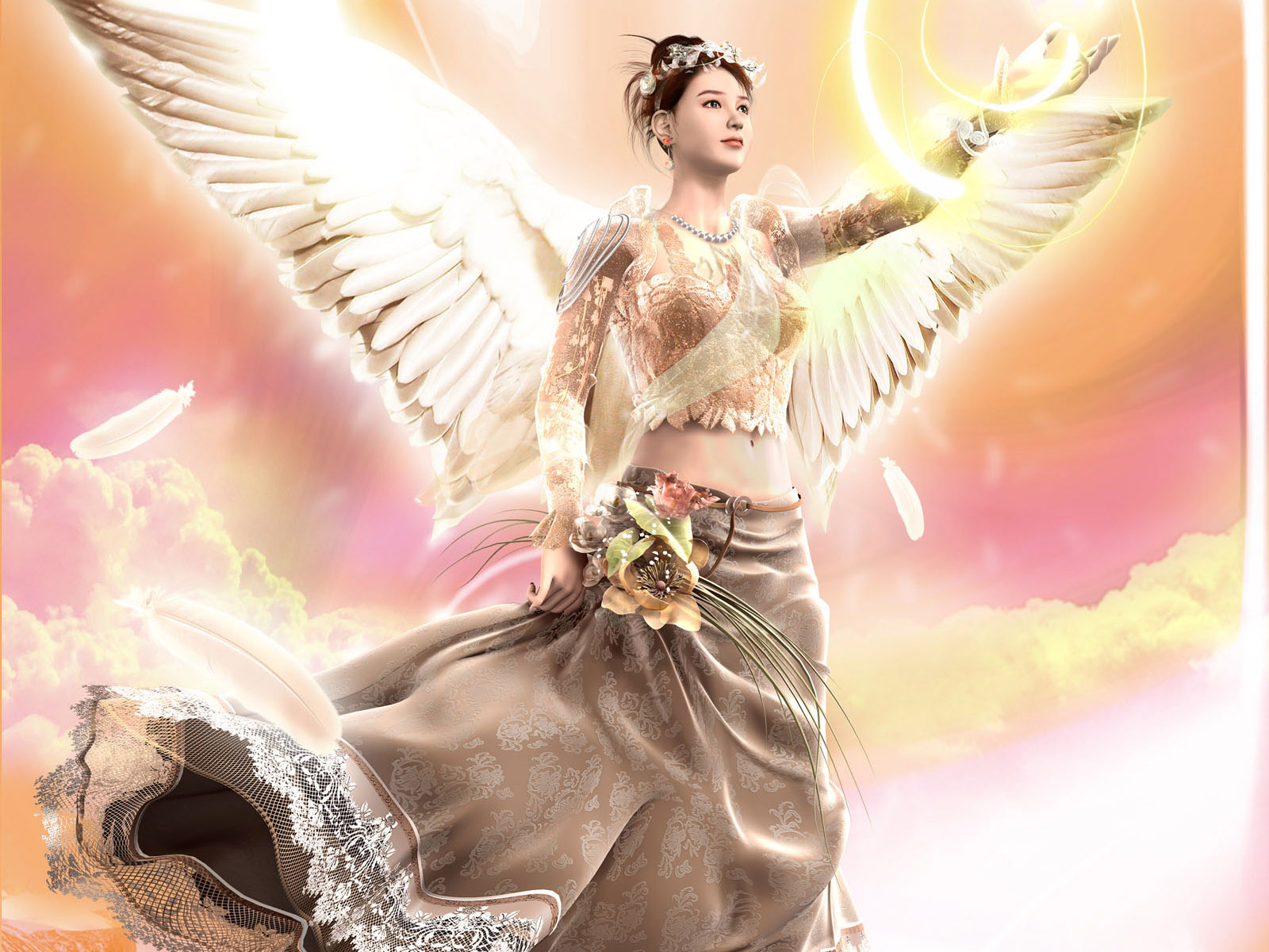 Millions of pictures beautiful angels wallpapers - Angel girl wallpaper ...