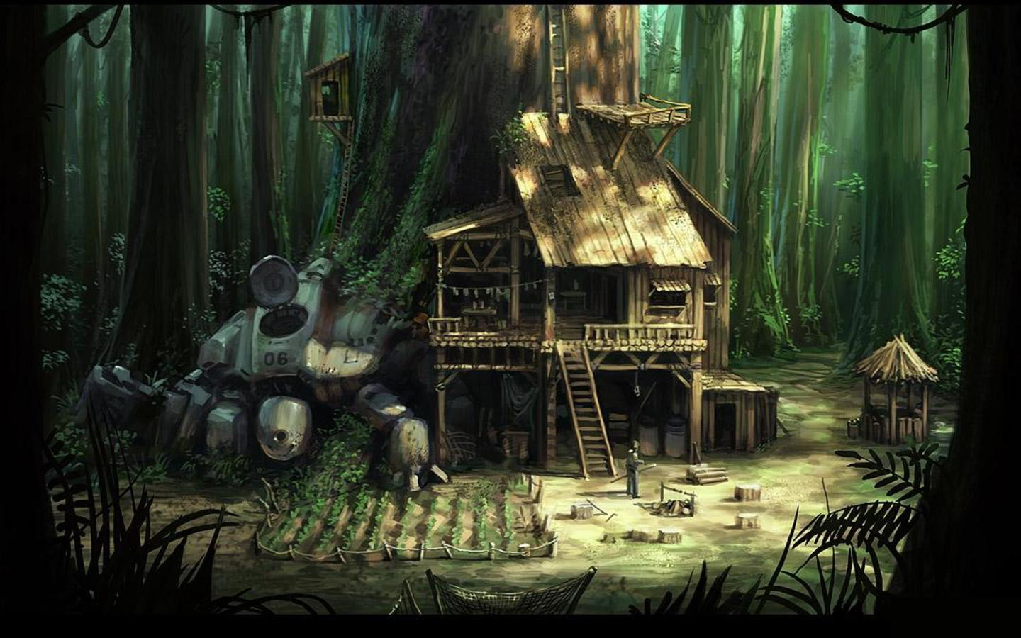 Top 10 beautiful fantasy houses 1440x900 pixhome for Home wallpaper jungle