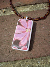 Domino pendant with seed beads