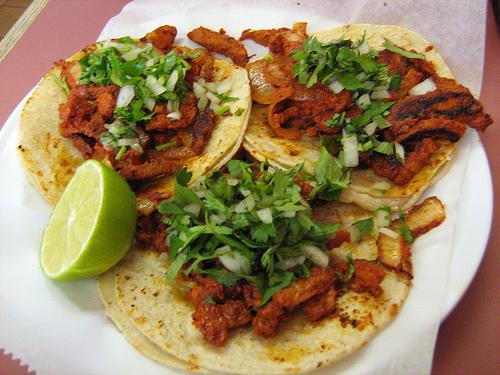Mexikanisches Essen Tacos al Pastor
