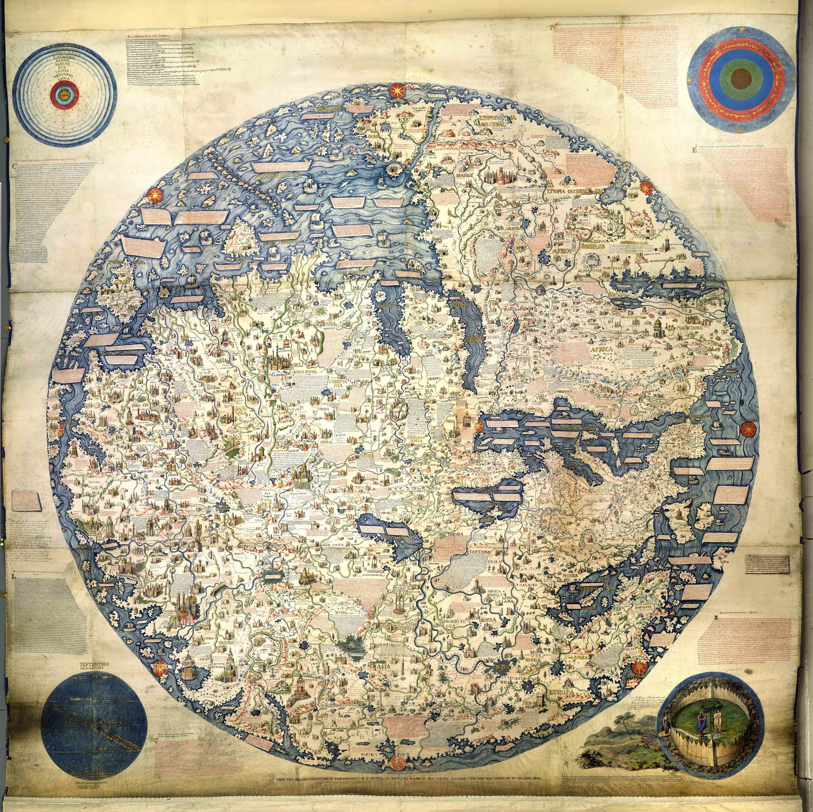 History in the news first impressions magnificent maps power fra mauro produced what many consider to be the first modern world map c1450 as it included recent portuguese discoveries in africa gumiabroncs Gallery