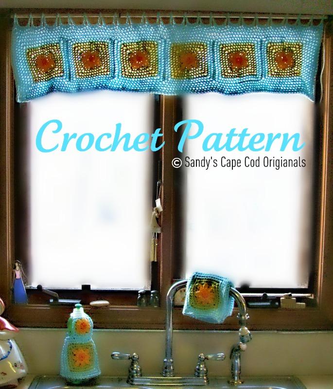 Sandys Cape Cod Originals Free Flower Kitchen Set Crochet Pattern