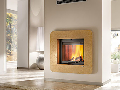 Italian Luxury Modern Design Fireplaces Wood Burning