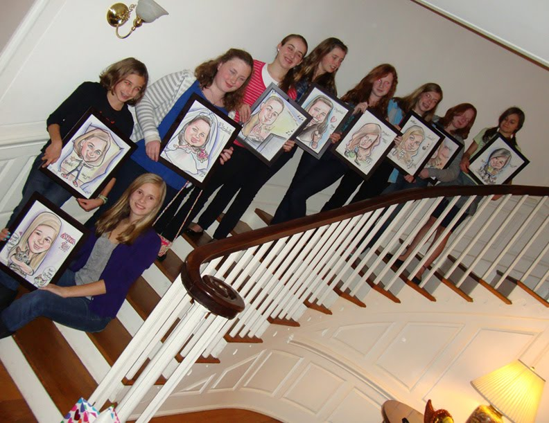 Emilys Caricature And Silhouette Blog 13th Birthday Party