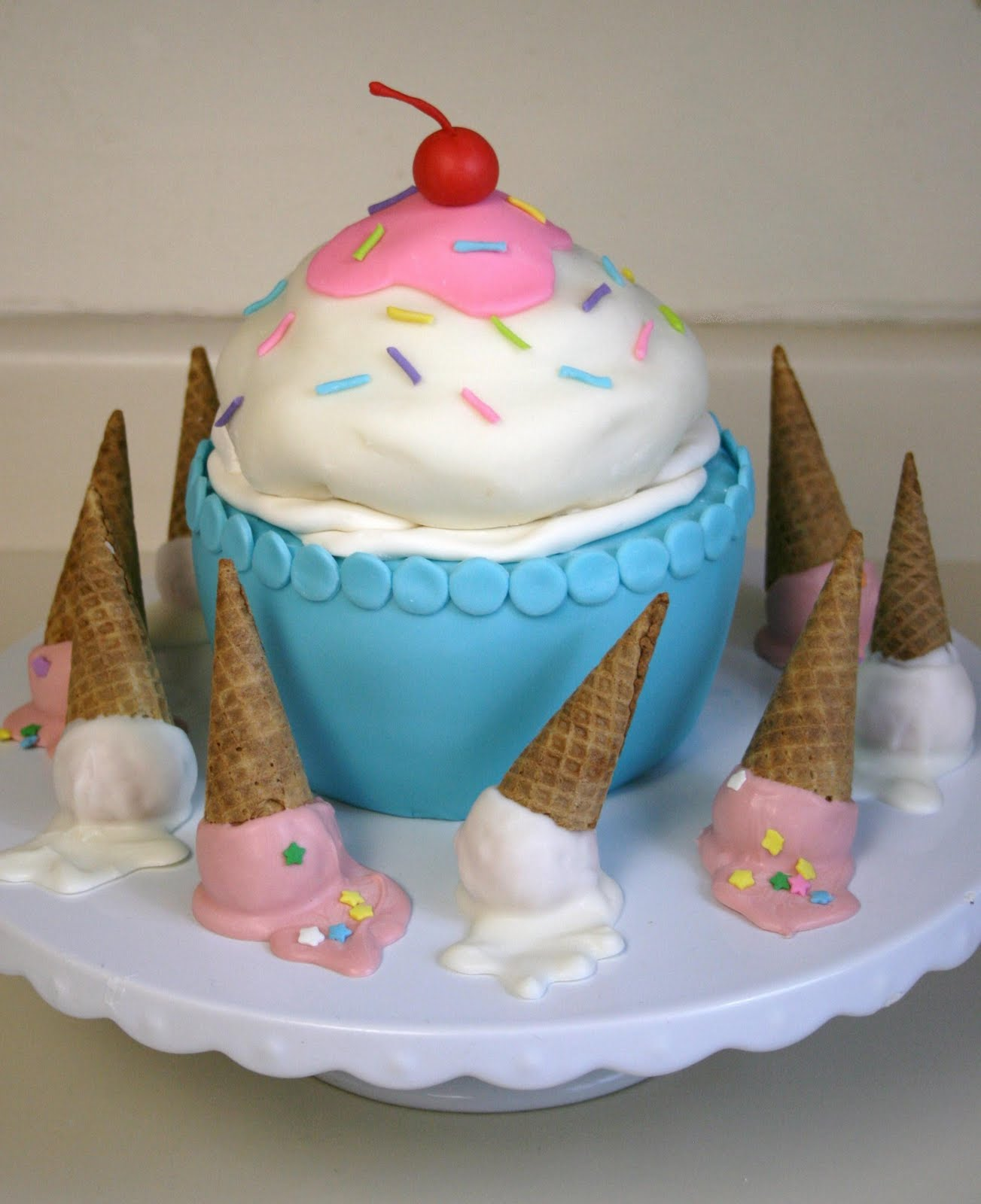 Cake Ice Cream Birthday : Sweet Elegance: Icecream Birthday Party