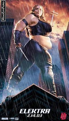Jennifer Garner, a atriz que interpretou Elektra, fez regime no McDonald