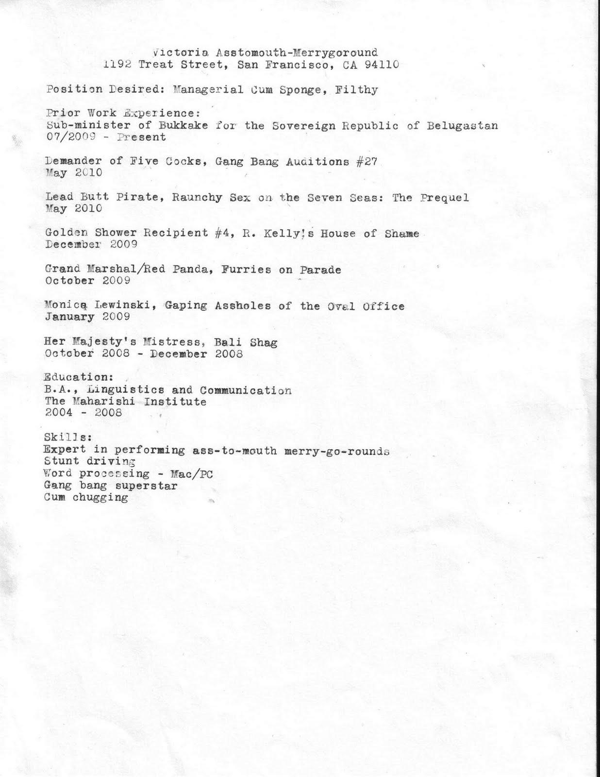 Rsum Urgent Typewriter Correspondence