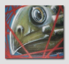 pintura Burity - a tartaruga que saiu do frio