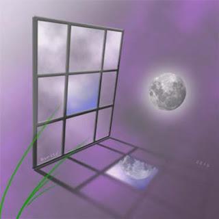 janela - lua - poesia