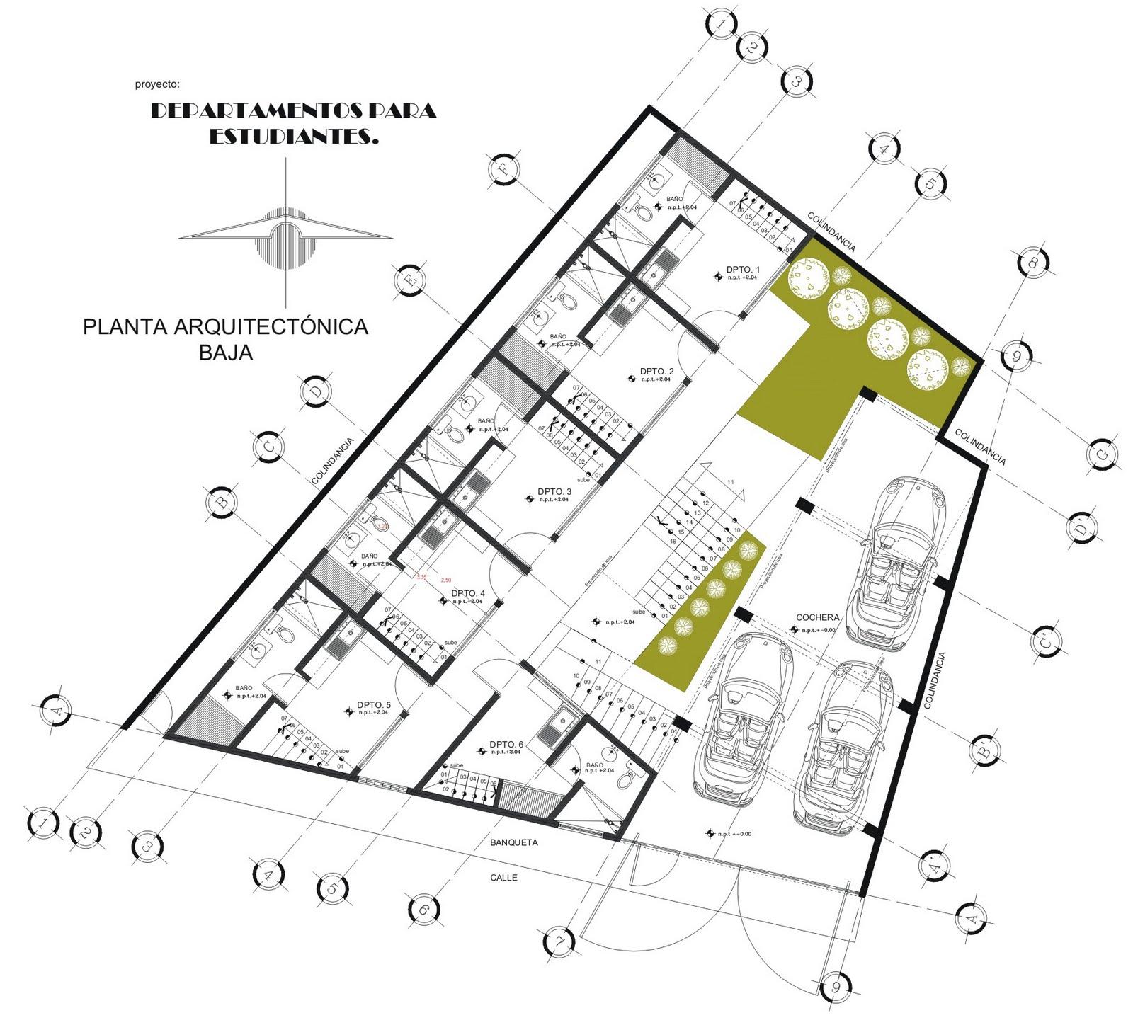 Baño Vestidor Planta:DIBUJOS y PROYECTOS Arq Francisco A: PROYECTO:DEPARTAMENTOS PEQUEÑOS