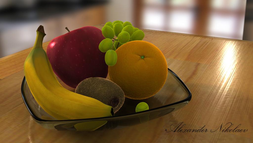 Alexander Nikolaev 3d Artist Fruit Bowl