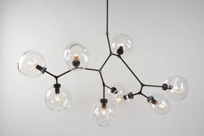 Black clover designs lindsey adelman lighting - Lindsey adelman chandelier knock off ...