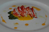Lobster with baby asparagus & mango-chilli mousse