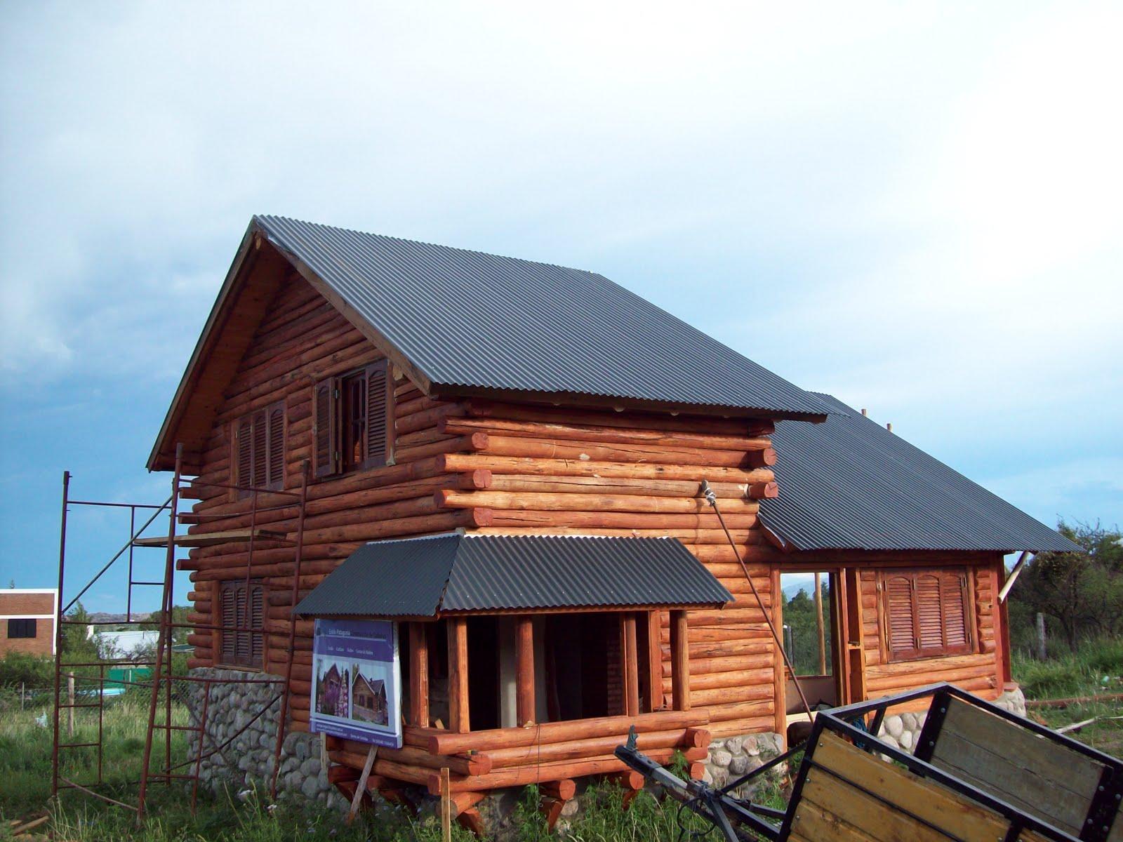 Arquitectura en madera construcci n en madera - Casas troncos de madera ...