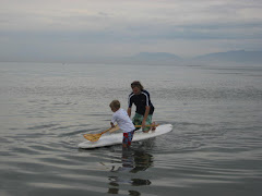 Paddle boarding with Uncle Ryan