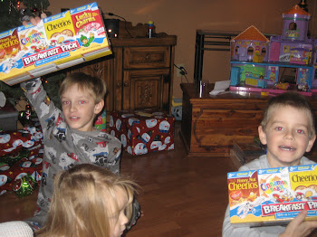 Cereal for Christmas!  Yah!!!