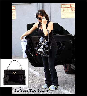 Cartera celebrity style kim kardashian and the ysl muse two satchel