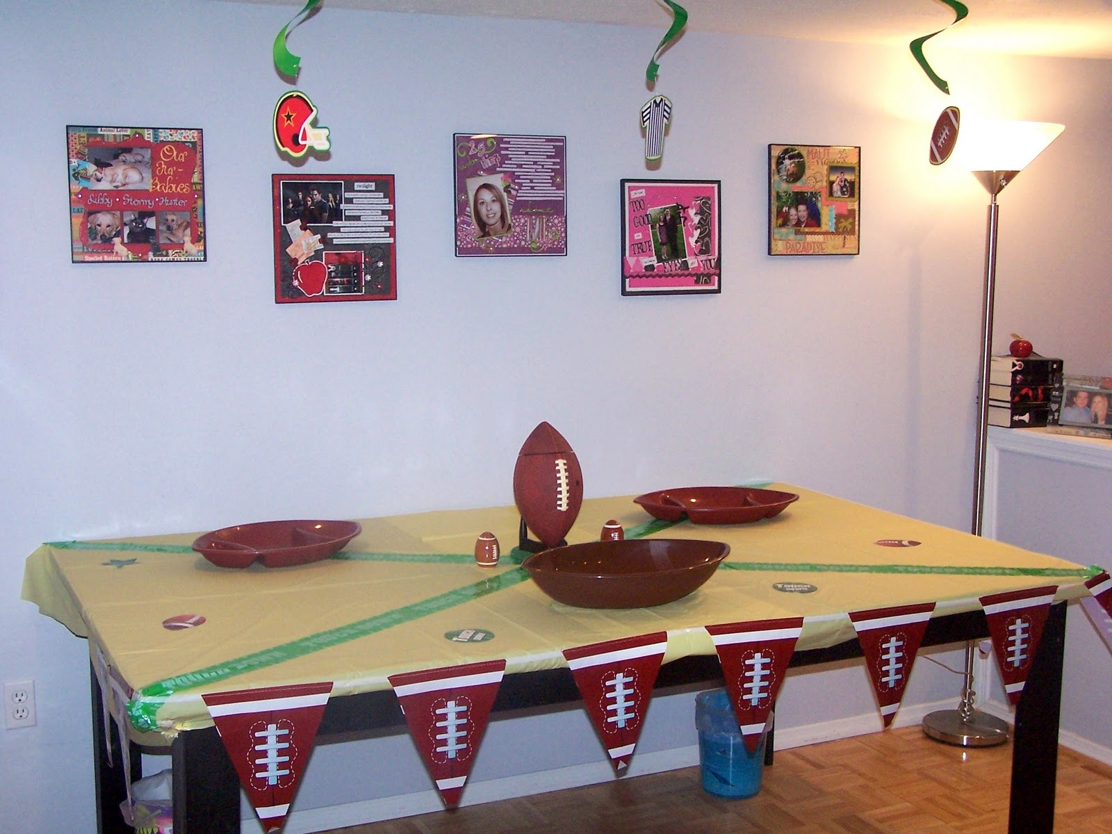The story of us super bowl party decorations for Super bowl party items