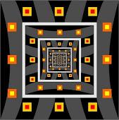 Relevos  Revelado Infogravuras construídas com o conceito de fractais espelhados