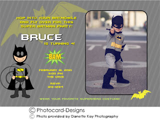 Birthday Invitations Sample Superhero Batman Spiderman