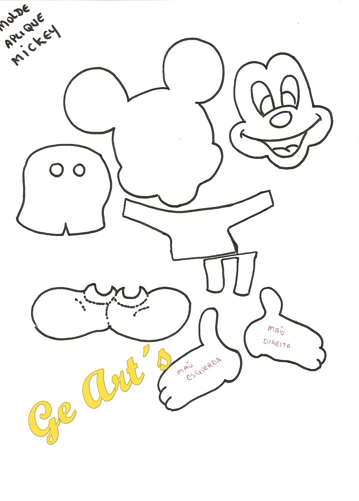 Molde S Para Imprimir De Mickey Mouse