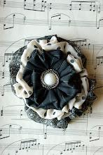 Matildas Truffle Vintage Headband Applique
