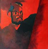 autoritratto,1967 olio su tavola