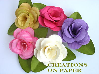 Creations on paper fancy flower tutorial rose i found these flowers in stampin connection and i just had to try making one but i couldnt stopfore you proceed to this tutorial mightylinksfo