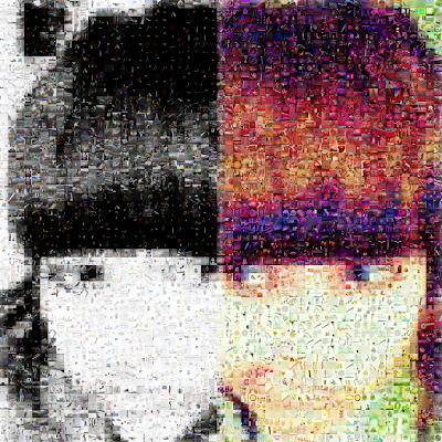 Mi avatar, texturizado con Image Mosaic Generator