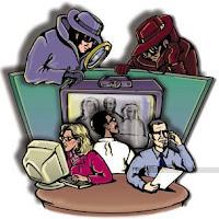 Espías vigilando lo que hacemos en el ordenador