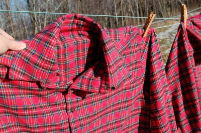 Flannel shirt detail