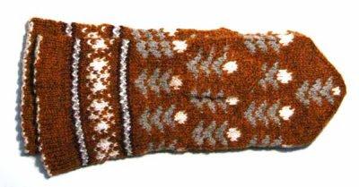 Another Latvian lady's mitten, Kurzeme region