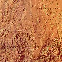Martian topo map