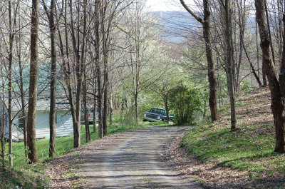 Early spring driveway