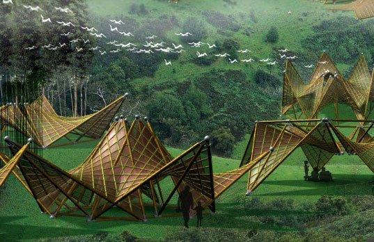 architecture world inspired folding