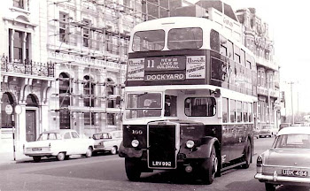 Bus on Portsmouth Hard 1950's