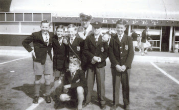 A series of four pictures from Willie Westcott. They show the school outing to London in 1958