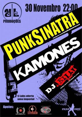 PunkSinatra + Kamones + DJ Billy - 30 Novembro @In Live Caffé