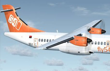 Fligth1 ATR 72-500 Fly540 angola FS9&amp;FSX