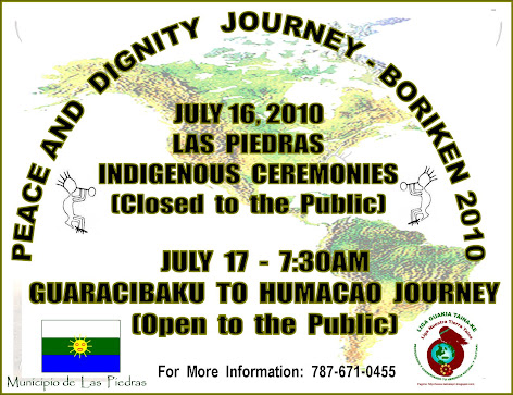 Peace and  Dignity  Journey -  Boriken 2010